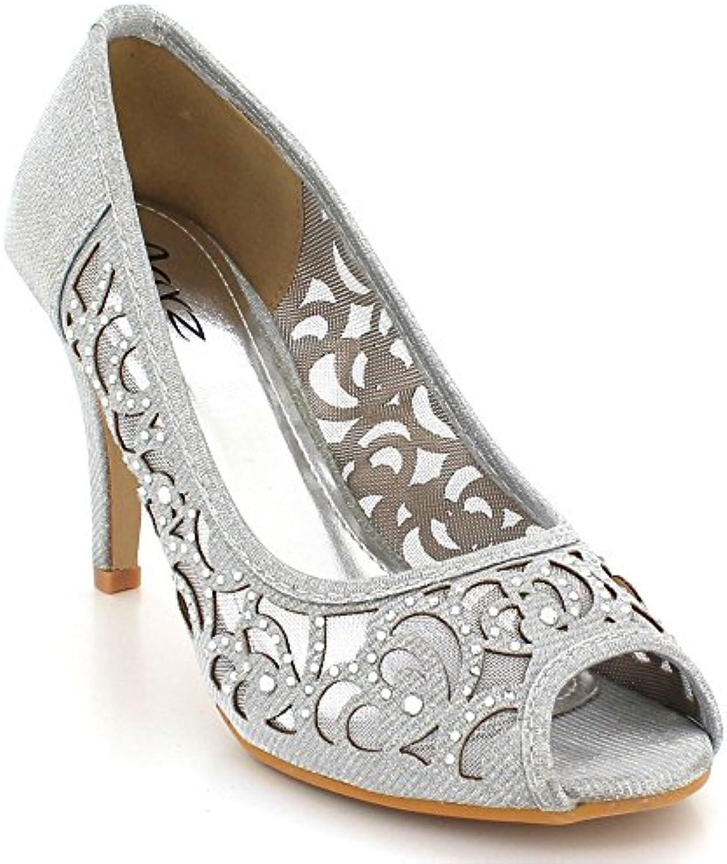 9f9041ef1b1a AARZ AARZ AARZ LONDON Women Ladies Evening Wedding Party Prom Diamante High  Heel Peeptoe Sandals Shoes Size B01BQEO1JO Parent 9ab7bd