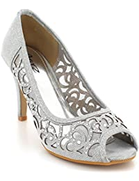 4e5a58de5dce2 AARZ LONDON Women Ladies Evening Wedding Party Prom Diamante High Heel  Peeptoe Sandals Shoes Size