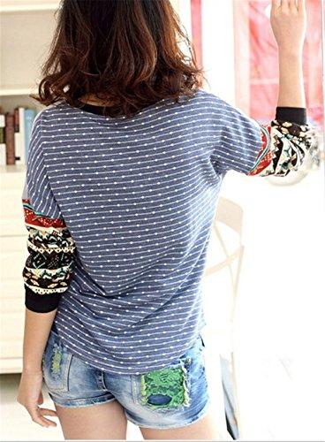 Fanessy Hemd Damen Strickjacke weiblich Rundhals Pullover Puli Blazer Grau