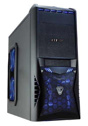 CiT Vantage - Case da gioco con 4 ventole Blu blu