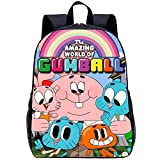 YHJ backpack Mochila Junior para Niños - The Amazing World of Gumball - Mochila Escolar con Mochila E-15 Inch