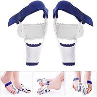 ROSENICE Big Toe Glätteisen ein Paar Nachtschiene Hallux Valgus Pad Correctors Fußpflege (weiß + blau) preisvergleich bei billige-tabletten.eu