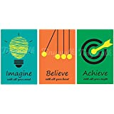 tinywalk Motivational Wall Poster(Art Card 240 GSM, Multicolour, 12x18-inches)-Pack of 3