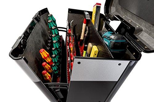 Parat Evolution Werkzeugkoffer mit CP-7-Werkzeughaltern, schwarz/silber (Ohne Inhalt) - 4