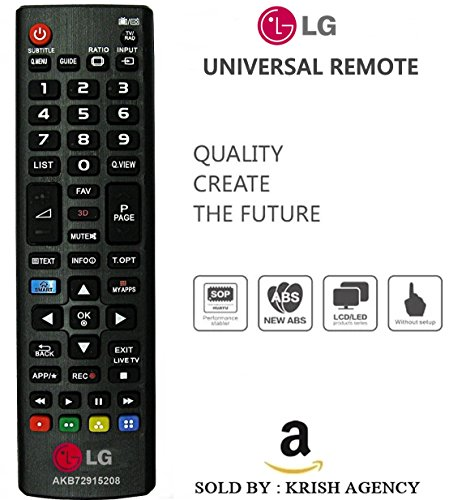 LG LED/LCD/PLASMA 3D Smart TV Remote (Works With All LG Led/Lcd/TV)  available at amazon for Rs.345