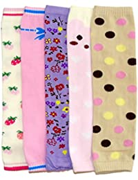 Dotty Fish bebé las niñas calienta piernas Paquete de 5 – Flores y corazones