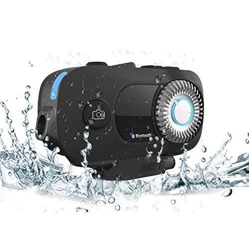 Leaf&Y Casco per Motocicletta Bluetooth, Videocamera per Casco Dvr Walkie-Talkie Registratore di Guida WiFi Integrato Scambio di Dati Misurazione della velocità Posizionamento GPS Cuffie Bluetooth