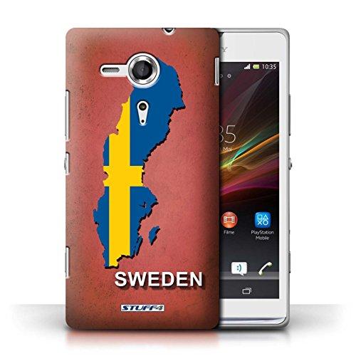 Kobalt® Imprimé Etui / Coque pour Sony Xperia SP/C5303 / Amérique/Américain/USA conception / Série Drapeau Pays Suède/Suédois