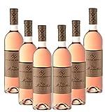 Lot de 6 Bastide des Bertrands Les Rocailles rosé
