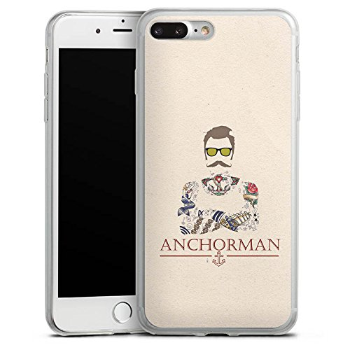 Apple iPhone X Slim Case Silikon Hülle Schutzhülle Schnurrbart Anchorman Tattoo Anker Silikon Slim Case transparent