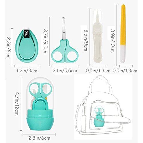 Suntapower Babypflege Set mit Baby Nagelschere, Baby Nagelknipser, Glasnagelfeile und Nasenpinzette - in Sicherheitsbox (Nagelschere) - 7