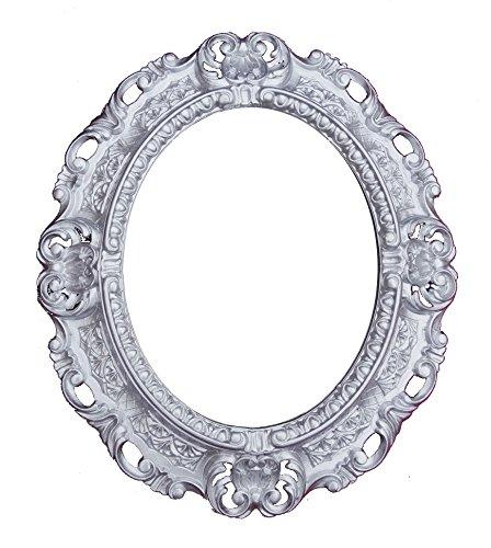Lnxp WANDSPIEGEL Spiegel Oval in Silber REPRO 45x38 Antik Barock Rokoko Vintage REPLIKATE...