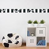 malango® Bordüre Fussball schwarz weiß Fussballverein Wanddekoration Kinderzimmer Bälle Sport Verein Hobby Freizeit Dekoration Fussballfan Set 2-6-teilig