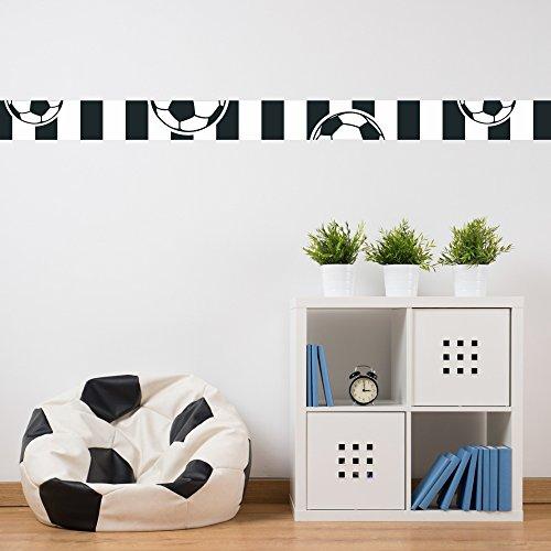 malango - Fußball-Bordüre schwarz weiß