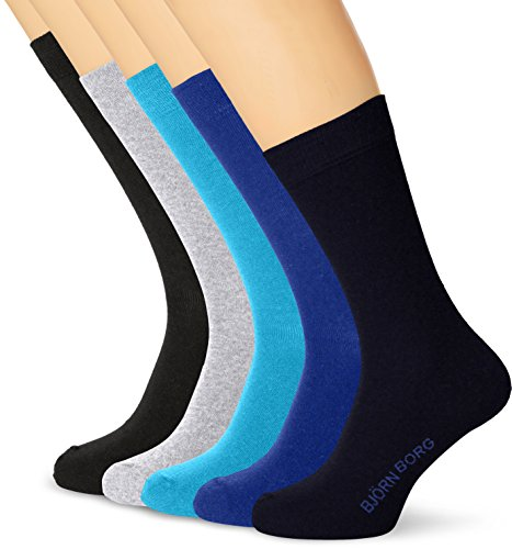 bjorn-borg-ankle-sock-basic-noos-5-p-calcetines-para-hombre-mehrfarbig-total-eclipse-70291-talla-uni