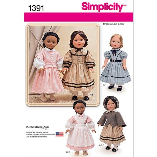 Simplicity us1391os Größe OS Bürgerkrieg Puppe Kostüm für 18Puppe