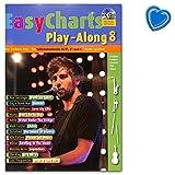 Easy Charts Play-Along - die größten Hits spielerisch leicht gesetzt - Notenbuch mit bunter herzförmiger Notenklammer - MF3608 9783795711269
