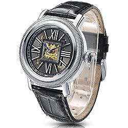 Time100 reloj moderno automático para hombre correa de piel