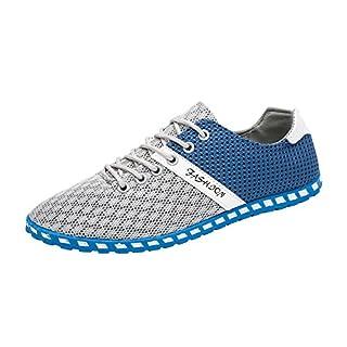 YEARNLY Herren Schuhe Klassische Espadrilles Aus Mesh und mit Gemütlicher und Gummi Wasserabweisender Jutesohle