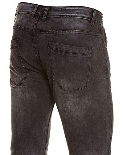 BLZ jeans - verblasste schwarze Jeans schlanke Mann Schwarz