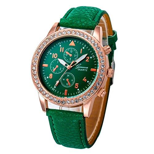 Relojes Pulsera Mujer, Xinan Relojes de Cuarzo de Cuero de Moda Banda Analógica