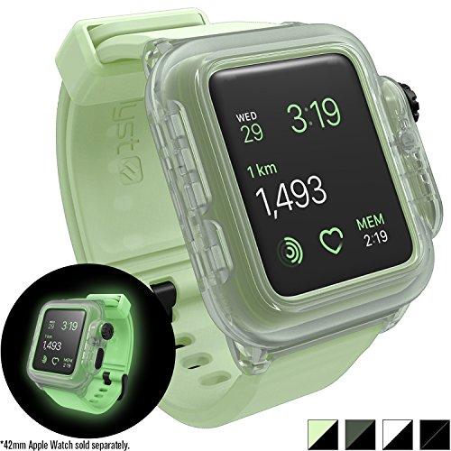 Catalyst Hülle für Apple Watch 42mm Series 2, Wasserdicht, Schockabsorbierend, Leuchtet im Dunkeln