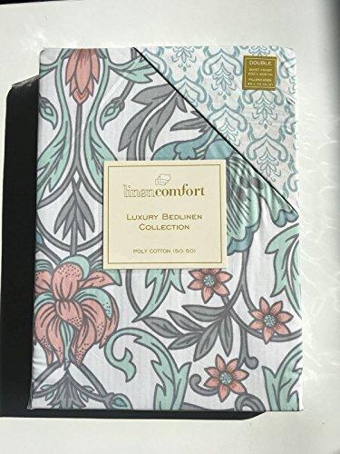 Abz Fashion Bedruckt Neu Bettwäscheset, Bettbezug Kopfkissen Bettwäsche Sets Einzel Doppel King Set, Art Deco Floral, Doppelbett (Art-deco-bettwäsche)