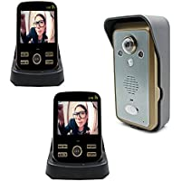 [Upgraded Version] Bearhoho Wireless Video Door Phone 2 way intercom