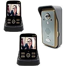 beahoho Wireless Video Türsprechanlage 2-Wege-Gegensprechanlage 8,9cm TFT Monitor Night Vision Kamera nehmen Bild Fernbedienung Entriegelung Home Security System Reichweite 300m, 1V2