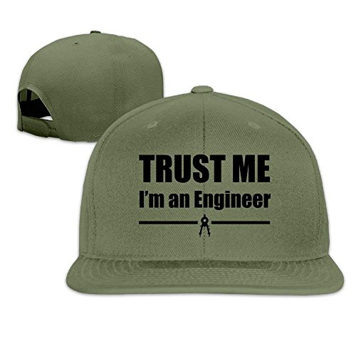 ShixiaoCC Trust Me I'm an Engineer Washed Adjustable Flat Bill Visor Baseball Hat Solid Twill Visor