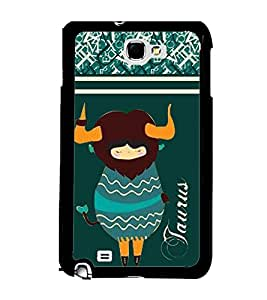 Fuson 2D Printed Sunsign Taurus Designer back case cover for Samsung Galaxy Note 2 - D4410