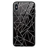 Zhuofan Plus Coque Apple iPhone XS Max Housse de Verre, Noir TPU Silicone Bord avec...