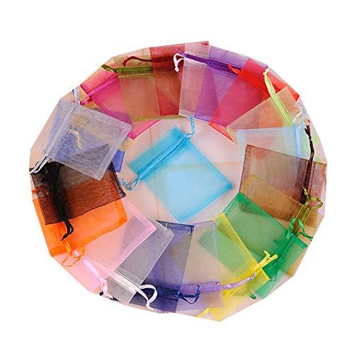 100 bolsas regalo cordón regalo organza 20 colores