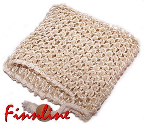 Finnline Massage-Seifentasche aus Sisal für die Finnline Wellnessseifen I Seife rein und los geht der Massagespaß I Versand durch Amazon (Liebe-gel-massage)