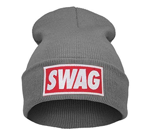 Beanie Hüte Mützen Damen Herren Bad Hair Day Bastard Meow Swag Wasted Commes HAT HATS Morefazltd (TM(swag gray) (Kitty Womens Hut)