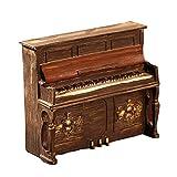 Healifty Vintage Klavier Modell Harz Skulptur Modell Desktop Dekoration (Braun)