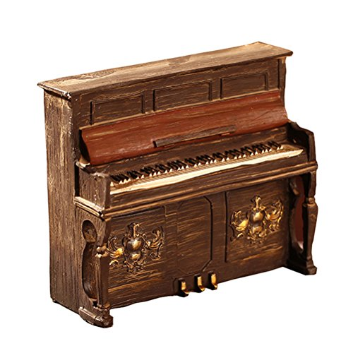 Healifty Vintage Klavier Modell Harz Skulptur Modell Desktop Dekoration (Braun) -