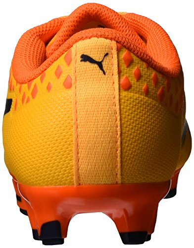 Puma Unisex-Kinder Evopower Vigor 3 Fg Jr Fußballschuhe Orange (Ultra Yellow-Peacoat-Orange Clown Fish 03)