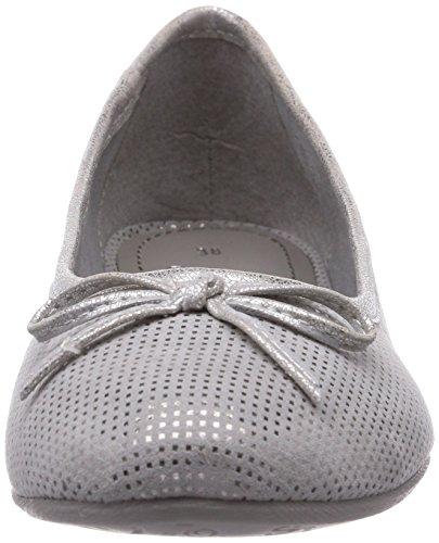 s.Oliver 22103 Damen Geschlossene Ballerinas Grau (Lt Grey 204)