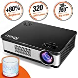 "Video Projector, RAGU Z720 HD Portable Movie Projector Efficiency 1280x720 Resolution 5.8"" LCD Home Theater Video Projector with HDMI Support 1080P VGA USB SD AV TV Laptop for Entertainment Game Party"