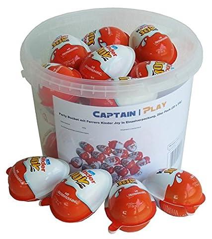 Party Bucket mit Ferrero Kinder Joy in Einzelverpackung, 20er Pack (20 x 20g)