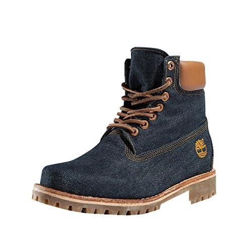 Timberland Heritage 6 In Fabric B3r, Bottes et Bottines Classiques Mixte Adulte Bleu