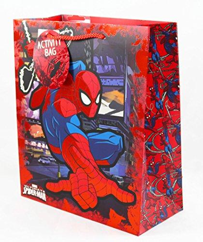 Spiderman große Geschenktasche Wortsuch-Puzzle-Aktivität Marvel Jungen Kinder Geburtstag (Spiderman Kostüme Designs)