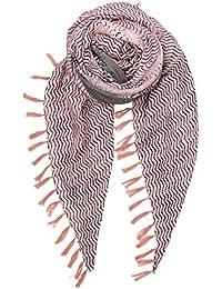 4d9ced324dc077 Becksöndergaard Damen Schal Detailed Snake Rosa - Gestreiftes Tuch mit  Schlangen Druck und Fransen Synthetisch Größe: 180x130 cm…