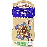Babybio Bols Ratatouille à la Provençale/Riz 2x200 g -