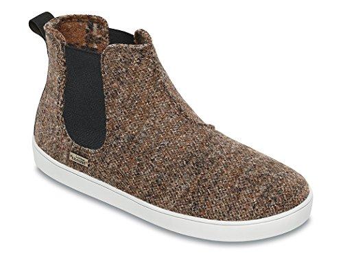 Living Kitzbühel Unisex-Erwachsene Boots Tweed Chelsea Hausschuhe Braun (Chesnut)