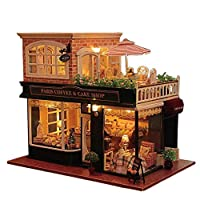 Rylai 3D Puzzle Wooden Handmade Miniature Dollhouse DIY Kit-Legend Of The Blue Sea Series Beach House & Furniture Dollhouses 2017 X