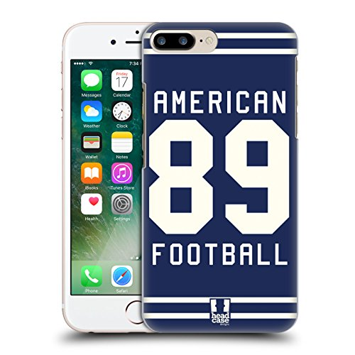 Head Case Designs Football Américain Jersey Sportif Étui Coque D'Arrière Rigide Pour Apple iPhone 7 Plus / 8 Plus Football Américain