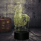 SQHY New Legno Petto Petto Battle Royale Gioco TPS PUBG Lampada da Tavolo 7 Colori 3D LED Night Light Boy Bambino Regalo di Natale Home Decor Lava