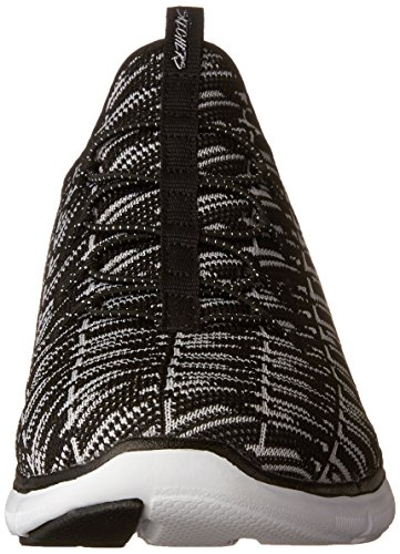 Skechers Flex Appeal 2.0-Insights, Baskets Femme Noir